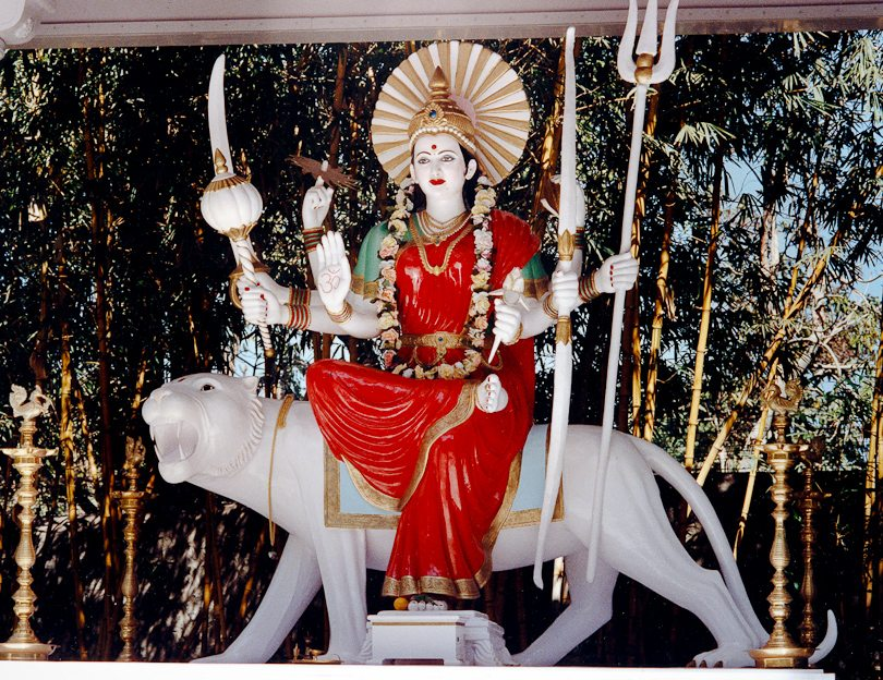 Statue of the Hindu Goddess Durga, Ganeshpuri, India