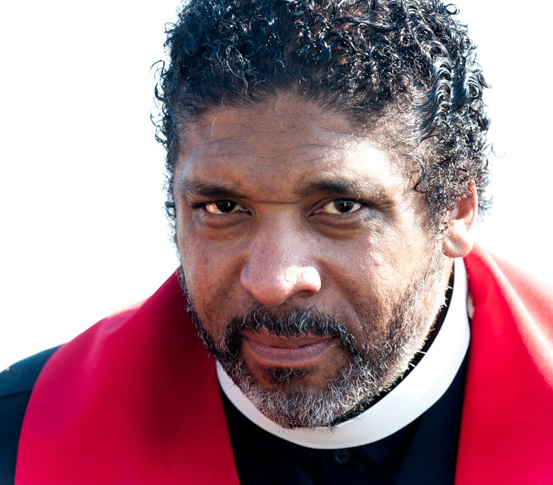 Rev. Dr. William J. Barber, On the Edmund Pettus Bridge, Selma, Alabama
