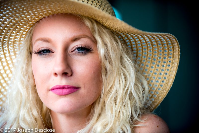 Portrait of a 30 year old blond woman