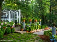 Garden with outdoor living space, Georgia