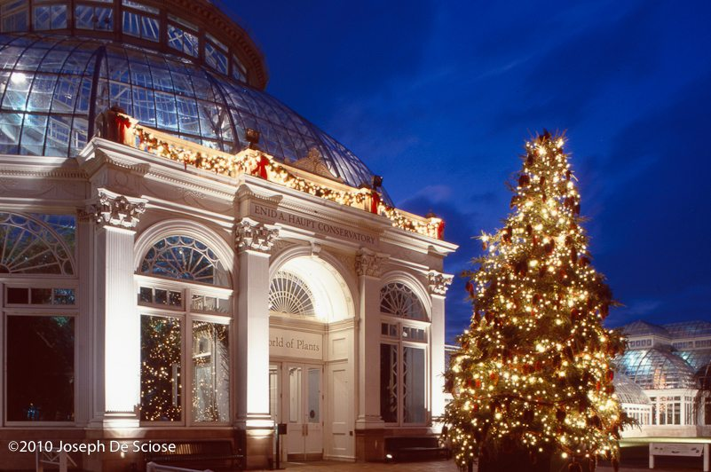 Conservatory, New York Botanical Garden, Christmas