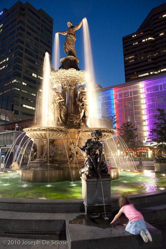 The Genius of Water, Cincinnati, Ohio water Fountain, photo, Fountain Square, Tyler Davidson Fountain