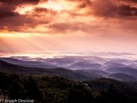 Morning view from Grandfather Mountain, Blue Ridge Mountains, North Carolina