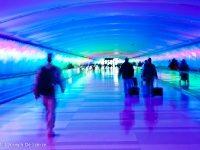 Detroit Airport, terminal transfer tunnel