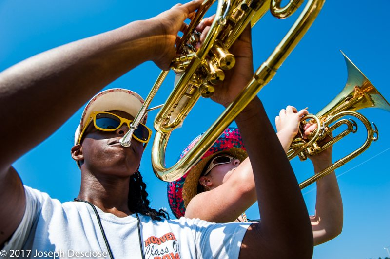 Hoover High School Marching Band, rehearsal