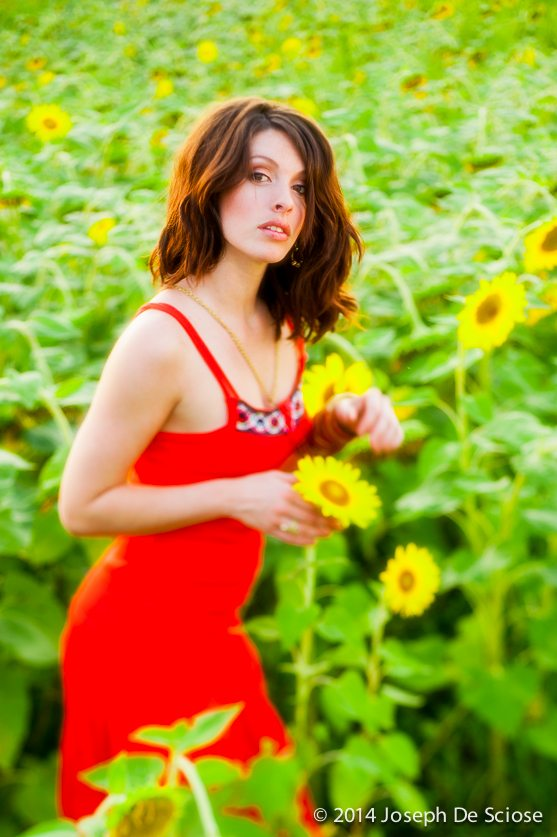 Jenny in the Sunflowers
