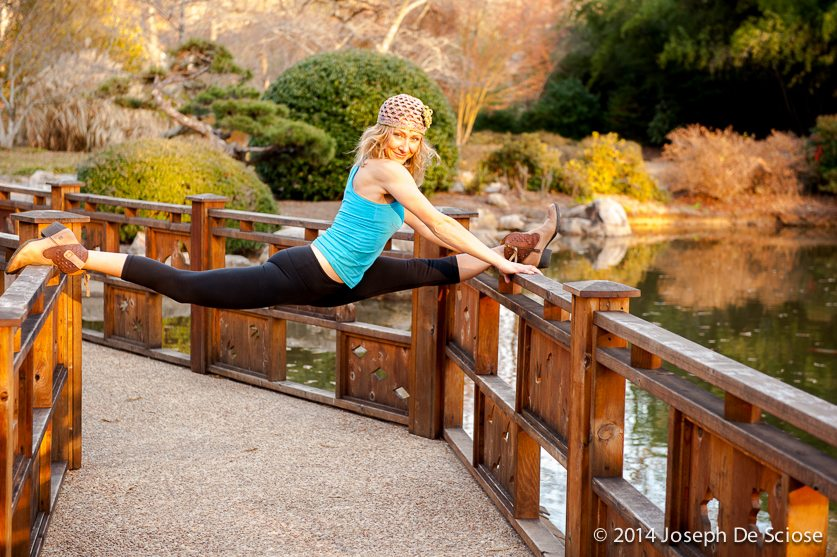 Yogini doing a yoga posture