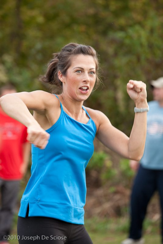 Tiffany running her boot camp in Georgia.