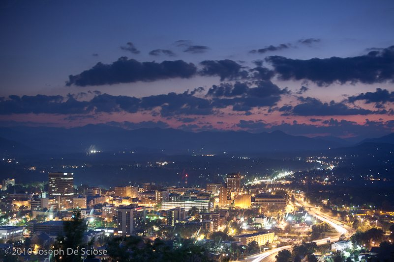 Asheville, North Carolina cityscape