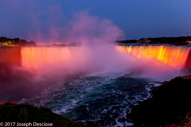 Niagara Falls, light show, Canada