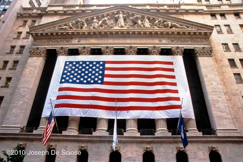 American Flag on the New York Stock Exchange