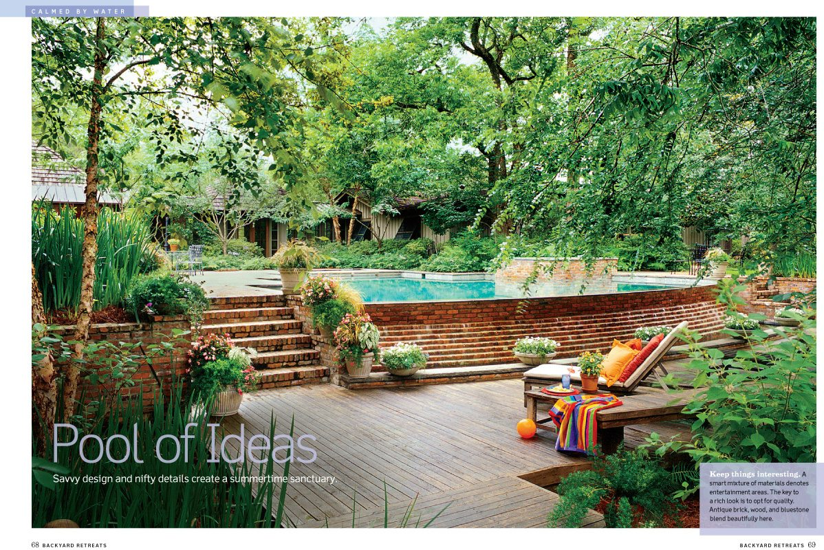 Backyard Retreats 2009, Southern Living Magazine, swimming pool, Alexandria, Louisiana