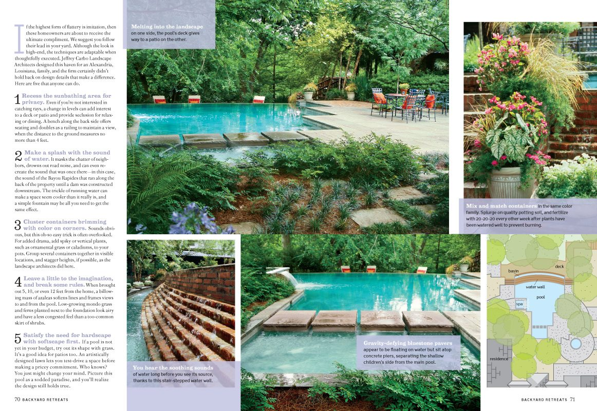 Backyard Retreats 2009, Southern Living Magazine