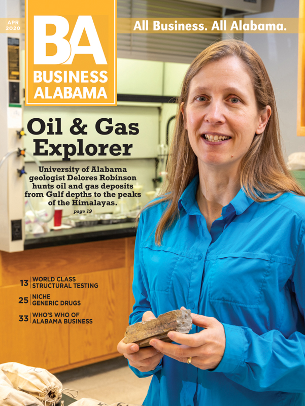 Delores Robinson, Geologist, Business-Alabama-Magazine-Cover-April-2020