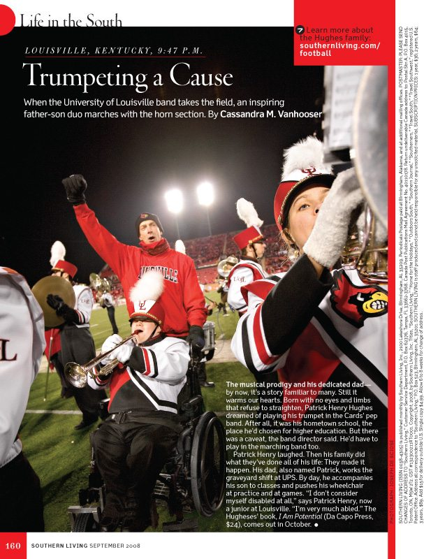 University of Louisville Marching Band, Southern Living Magazine, September 2008