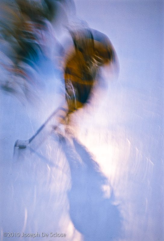 Hockey player at Lasker Rink in Central Park, Shadow Play