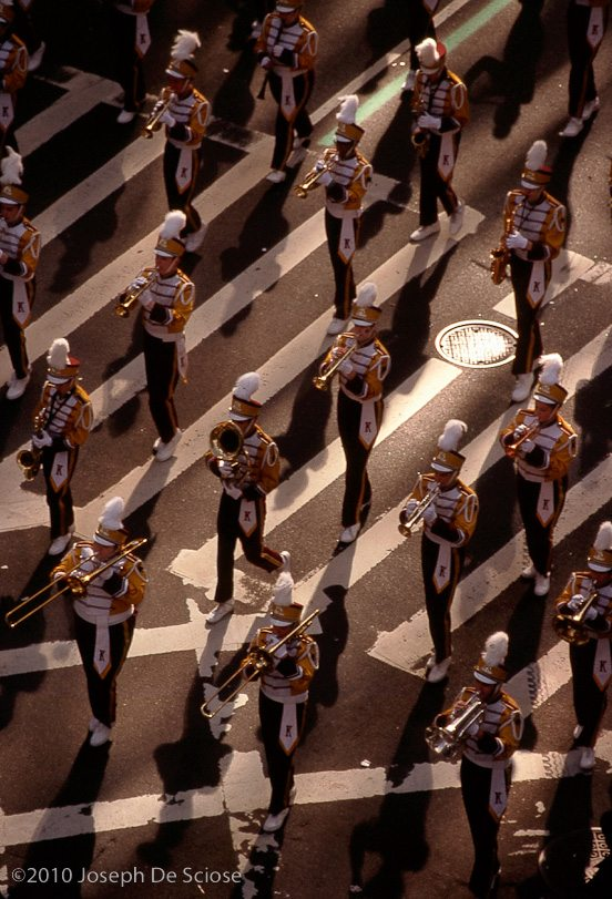 High School Marching Band going up 5th Avenue on St. Patrick's Day, NYC