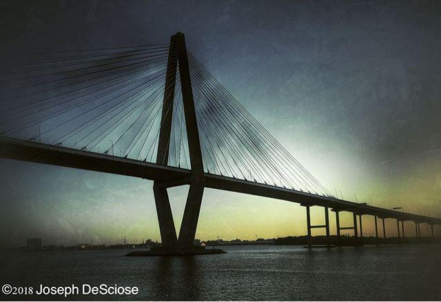 Ravenel bridge #bridges #sunset #silhouette #bridges_of_our_world #explorecharleston