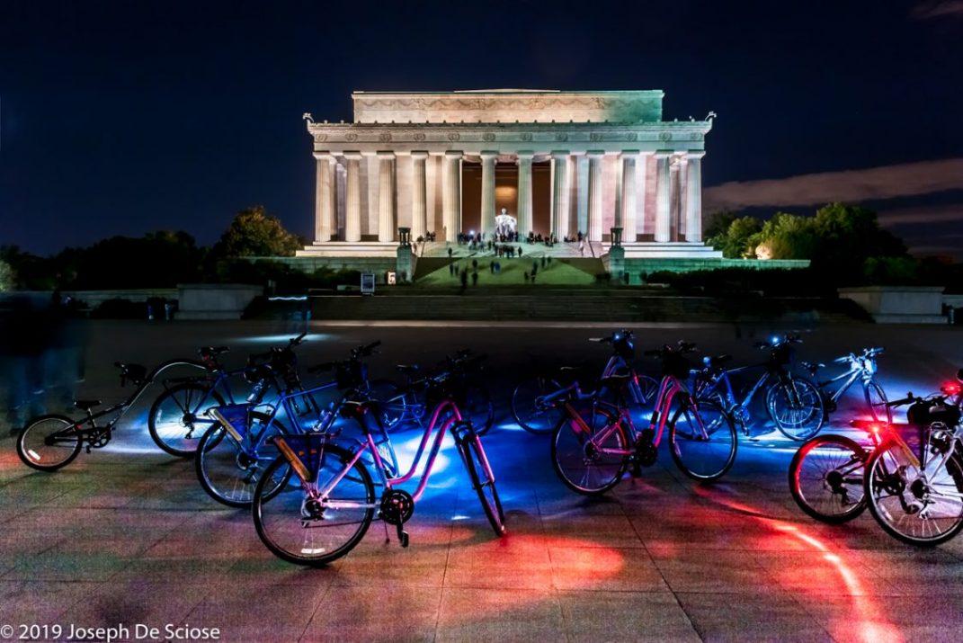 Birmingham photographer, night Lincoln Memorial, Washington DC