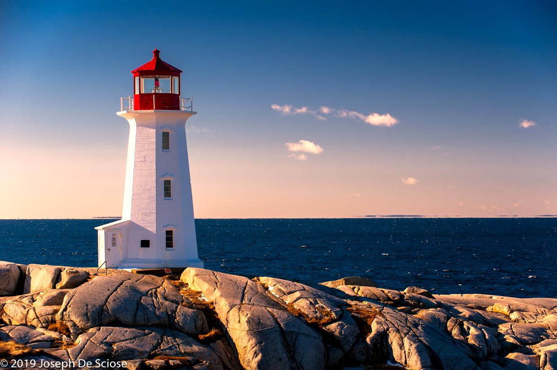 Peggy's Point Lighthouse, Nova Scotia, Canada. Sky, shore, romance, ocean, horizon, destination photographer Birmingham