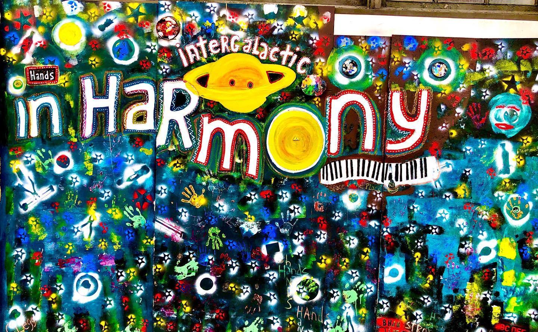 Harmony mural #street #art #inspiration #mural #hopeful #color #artists #galaxy #birminghamalabama