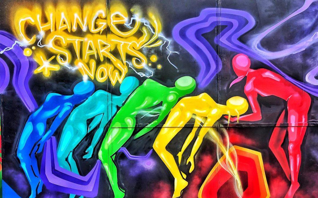 Change Starts Now #mural #art #wallmural #inspiration #alabama #color #change #art #artist